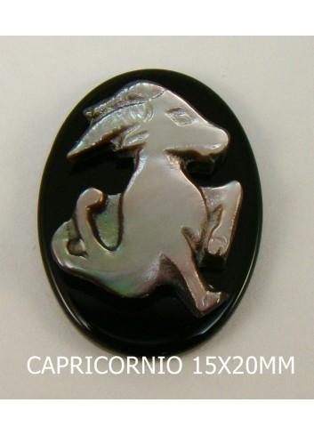Capricornio Ónix-Madreperla 15x20mm