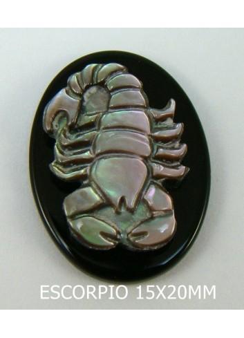 Escorpio Ónix-Madreperla 15x20mm
