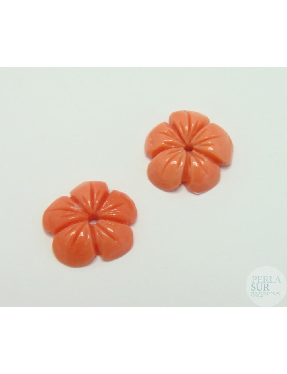 Flor 5 pétalos Coral Japonés 10 a 12mm