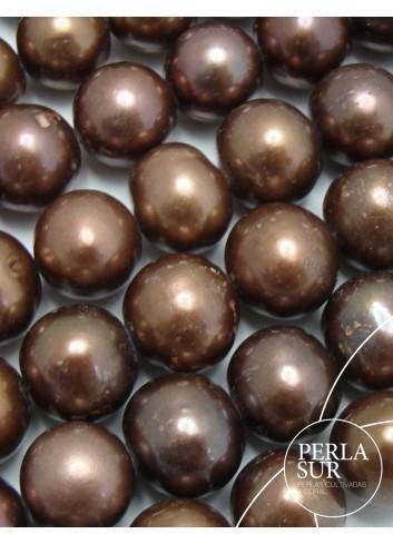 Hilo Perla Patata  11-12 mm Chocolate