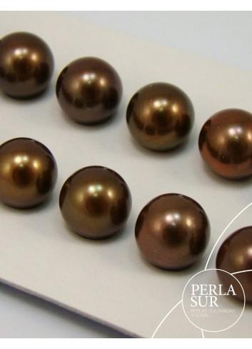 Perla esférica 7.5-8mm chocolate