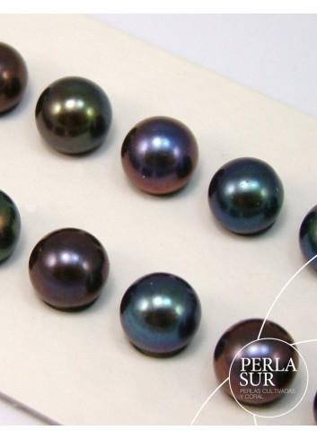Perla esférica 7-7.5mm peacock